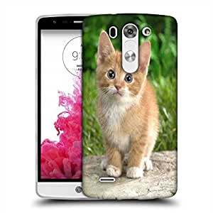 Snoogg Cute Cat Designer Protective Phone Back Case Cover For LG G3 BEAT