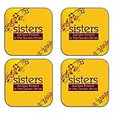 MeSleep Love Sister Wooden Coaster-Set Of 4 - B013LEL1ZE