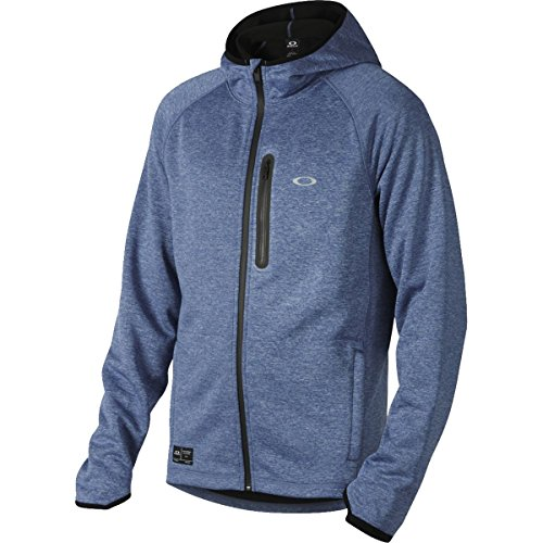 888896398896 - Oakley Mens Interval Tech Fleece Hoody Zip Sweatshirt Large Delft Light Heather carousel main 0