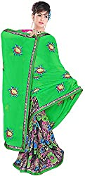 Jay Ambe Creation Women's Georgette Saree (ra1012)