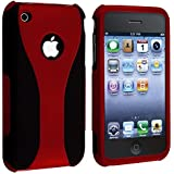 eForCity Snap-on Case compatible with Apple iPhone 3G / 3GS, Red / Black Cup Shape