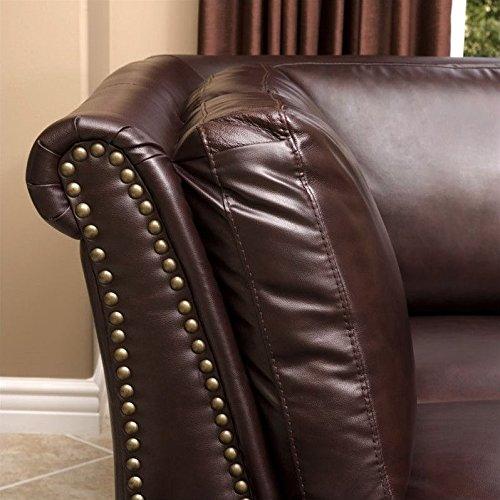 Abbyson Living Pasadena Italian Leather Sectional Sofa