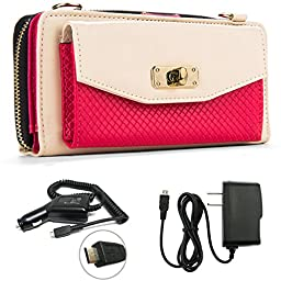 Venice Women\'s Wallet Clutch + Strap For Samsung Galaxy S5 / S5 LTE-A / S5 Active / S5 Sport / S5 mini + Car Charger + Home Charger