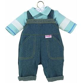Corolle Denim Overalls Set, fits 12 inch baby dolls