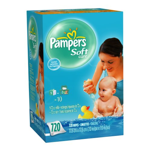 Pampers Soft Care Scented Wipes, 720-Count Box (Package May Vary)