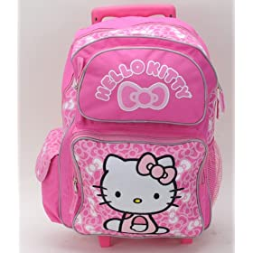 695c34e60 Sanrio Hello Kitty Large Rolling Backpack Bag Luggage Pink: Everything Else