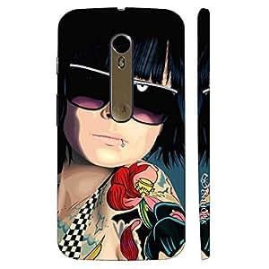 Enthopia Designer Hardshell Case COOL TATTOO GIRL Back Cover for Motorola Moto X Style