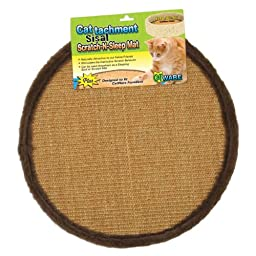 Ware Manufacturing Cattachment Sisal Scratch and Sleep Cat Mat, Fits 16-Inch
