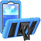 i-Blason Samsung Galaxy Tab 3 Lite 7.0 Case - Armorbox Dual Layer Hybrid Full-body Protective Cover with Kickstand and Impact Resistant Bumpers (Samsung Galaxy Tab 3 Lite 7.0, Black/Blue)