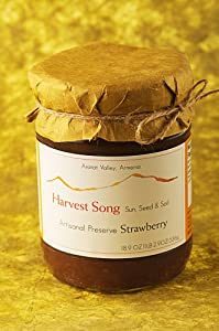 Harvest Song Gourmet 100% Natural Preserve Wild Strawberry, 18.9-Ounce Glass Jars (Pack of 3)