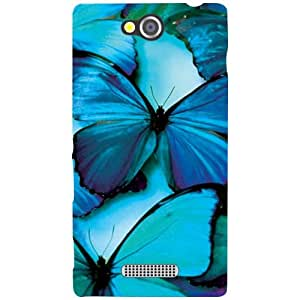 Sony Xperia C Back Cover - Blue Soothing Designer Cases