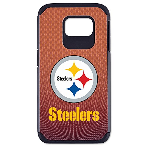 NFL Pittsburgh Steelers Classic Football Pebble Grain Feel Samsung Galaxy S6 Case, Brown at Steeler Mania