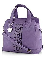 Butterflies Women's Handbag (Purple) (BNS 0321)