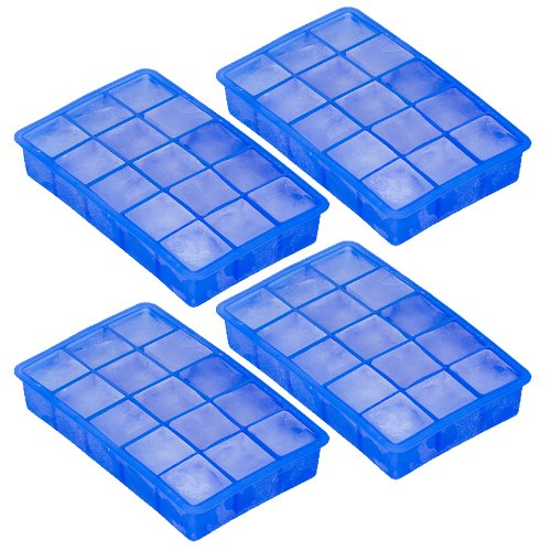 15 Cube Ice Cube Tray - Makes Perfect Cubes In Freezer - By Trademark Innovations front-296824