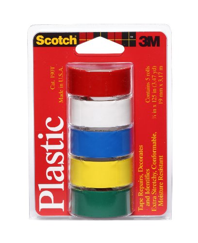 scotch-super-thin-waterproof-vinyl-plastic-colored-tape-75-inch-by-125-inch-5-pack