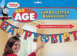Thomas the Tank Engine Train Add an Age Jumbo Birthday Banner by Amscan