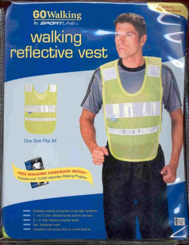 WALKING REFLECTIVE VEST BY SPORTLINE at Amazon.com