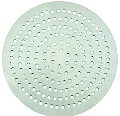 Winco APZP-7SP, 7-Inch Super-Perforated Aluminum Pizza Disk with 72 Holes, Pizza Screen Crisper