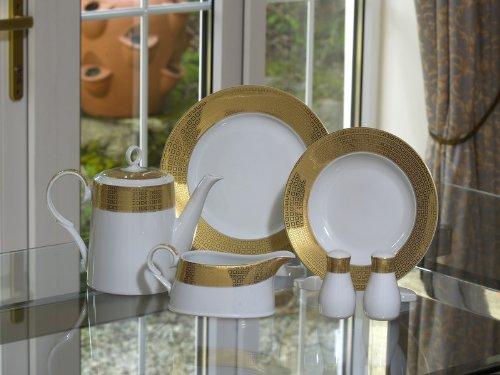 GRANDEUR GOLD SQUARES 68 Piece Dinner Set