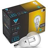 Triangle Bulbs T95051-3-VA, LED 40 Watt Equivalent Dimmable G16.5 Light Bulb, Candelabra Base, Warm White, 3 Pack