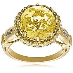 10k Yellow Gold Lemon Quartz Ring