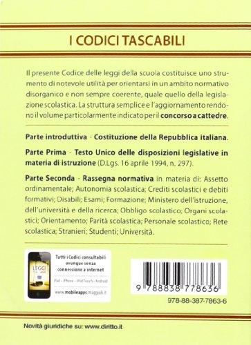 Libro codice delle leggi della scuola di autori vari for Codice promozionale amazon libri scolastici