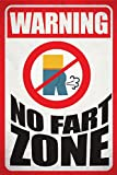 Seven Rays Seven Rays Warning No Fart Zone (12 X 18) Small Poster