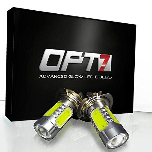 Opt7® H7 Nova Plasma Led Fog Light Bulbs - 6000K Cool White - Plug-N-Play (Pack Of 2)