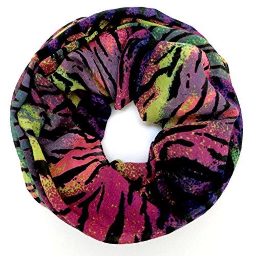 accessu-Echarpe-Foulard-pour-Femme-Multicolor-Zebra-Animal-Design