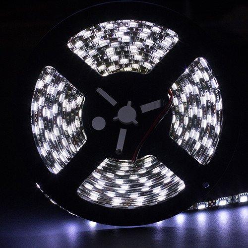 Supernight (Tm) 16.4Ft 5M 5050 300Leds/Pc Cool White Color Waterproof(Ip-65) Smd Black Pcb Flexible Strip Light front-157051