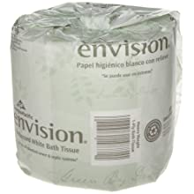 "Georgia-Pacific Envision 19841/01 White 1-Ply Embossed Bathroom Tissue, 4.05"" Length x 4"" Width (Case of 40 Roll)"