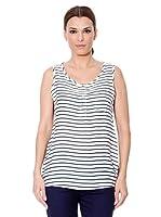 Cortefiel Camisa Rayas (Azul Marino / Blanco)