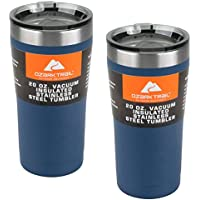 2-Pack Ozark Trail 20-Ounce Double-Wall Vacuum-Sealed Tumbler