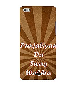 Punjabiyan Da Swag Wakhra 3D Hard Polycarbonate Designer Back Case Cover for Micromax Canvas Sliver 5 Q450