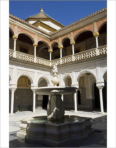 Photographic Print Of View Of The Patio Principal In Casa De Pilatos