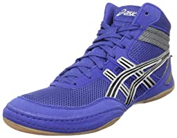 ASICS Men\'s Matflex 3 Wrestling Shoe,Royal/Black/Silver,10.5 M US