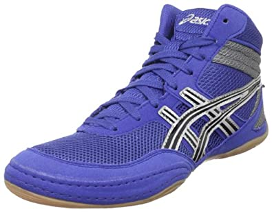 ASICS Men's Matflex 3 Wrestling Shoe,Royal/Black/Silver,9.5 M US