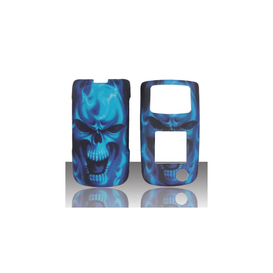 Blue Skull Samsung SGH Rugby II 2 A847 AT&T Case Cover Phone Snap on Cover Case Faceplates