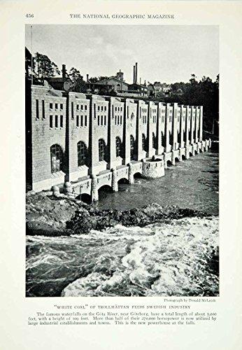 1928 Print Hydroelectric Plant Gota River Goteborg Sweden Historical Image Ngma2 - Original Halftone Print