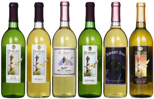 Duplin Winery Six White: Carlos, Magnolia, Scuppernong, Brice'S Creek, Sweet, Sweet Sox Mixed Pack 6 X 750 Ml