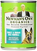 Newman's Own Organics Turkey & Brown Rice Formula for Dogs, 12.7-Ounce Cans (Pack of 12)