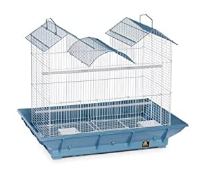 Prevue Pet Products BPV856 2-Pack Clean Life Flight Plastic Cockatiel Cage, 24-Inch, Colors Vary