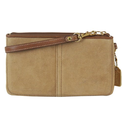 Coach   Coach Eyelet Suede Skinny Capacity Case Bag 1524 Camel