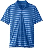 adidas Golf Mens Puremotion 2 Color Stripe Jersey Polo