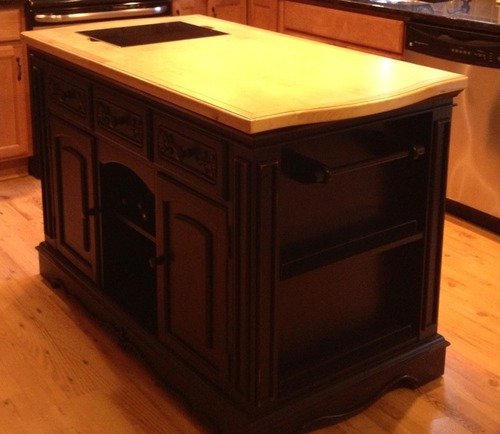 amazon com powell pennfield kitchen island furniture amp decor powell pennfield butcher block kitchen island