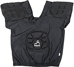 Macca Unisex Synthetic Rugby Shoulder Guard, Black (Pack Of 1)