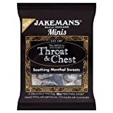 Jakemans Minis Throat & Chest Soothing Menthol Sweets 10x25g