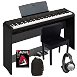 Yamaha P-105 Digital Piano COMPLETE HOME BUNDLE w/ Stand & Pedal Board