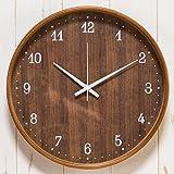 【正確な時間を刻む~シンプル&おしゃれな時計】電波時計 正確 木目調デザイン 自動時刻修正 壁掛け (C2552) Cタイプ