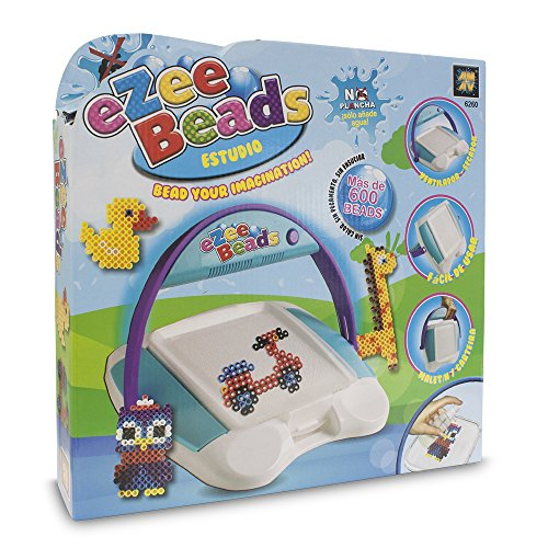 Ezee Beads - Estudio, juego de cuentas para planchar (Toy Partner 06260)